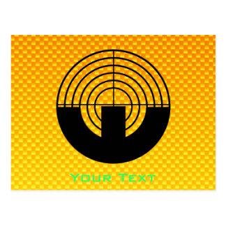 Yellow Orange Sport Shooting Postcard