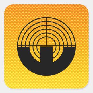 Yellow Orange Sport Shooting Stickers