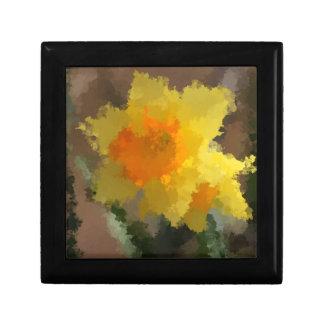 Yellow & Orange Spring Daffodil Painting Jewelry Box