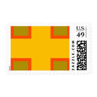 Yellow, Orange Squares Stamp