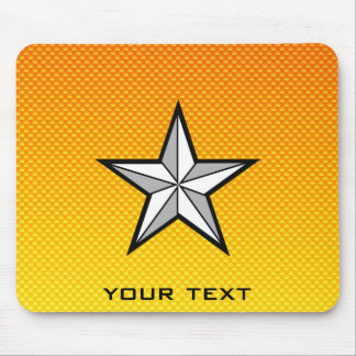 Yellow Orange Star Mouse Pad