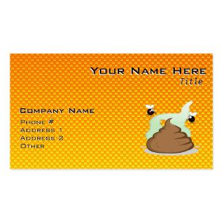 Yellow Orange Stinky Poo Business Card