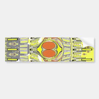 Yellow orange superfly design car bumper sticker