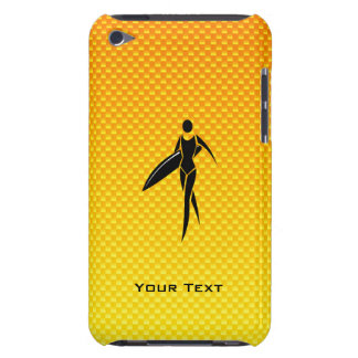 Yellow Orange Surfing Girl Barely There iPod Covers