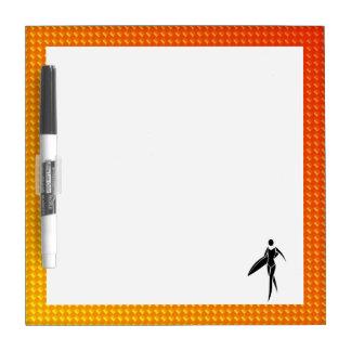 Yellow Orange Surfing Girl Dry-Erase Boards