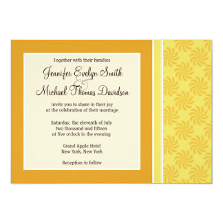 "Yellow Orange Swirl 5"" X 7"" Invitation Card"
