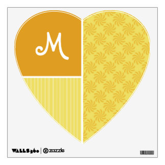 Yellow Orange Swirl Wall Sticker