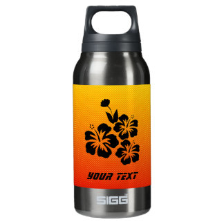 Yellow Orange Tropical Flowers 10 Oz Insulated SIGG Thermos Water Bottle