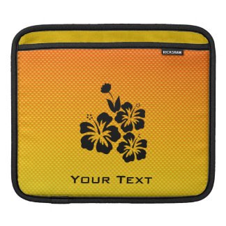 Yellow Orange Tropical Flowers Sleeves For iPads