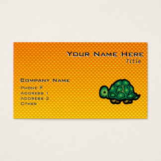 Yellow Orange Turtle Business Card