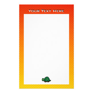 Yellow Orange Turtle Stationery
