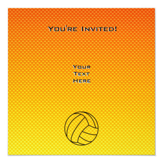 Yellow Orange Volleyball Card