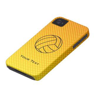 Yellow Orange Volleyball iPhone 4 Case-Mate Cases