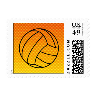Yellow Orange Volleyball Postage Stamps