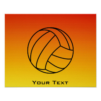 Yellow Orange Volleyball Poster