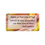 Yellow orange white smear abstract swirl custom address labels
