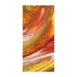 Yellow orange white smear abstract swirl full color rack card