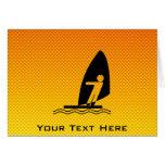 Yellow Orange Windsurfing Card