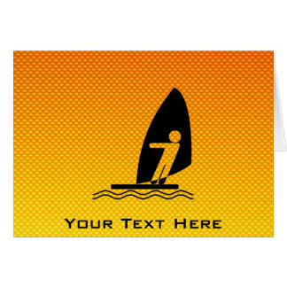 Yellow Orange Windsurfing Card