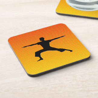 Yellow Orange Yoga Drink Coasters