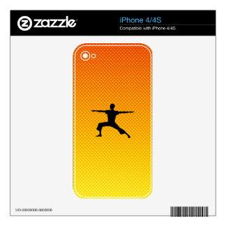 Yellow Orange Yoga Decals For iPhone 4