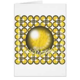 Yellow Orbs Greeting Card