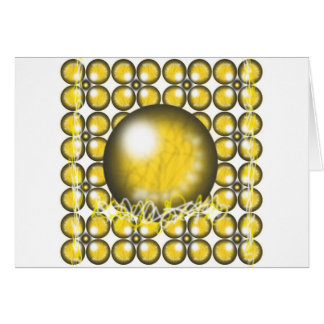 Yellow Orbs Greeting Cards