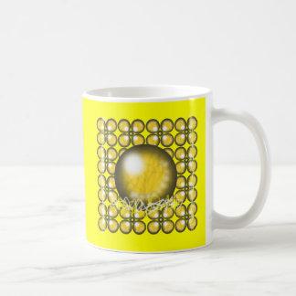 Yellow Orbs Coffee Mug