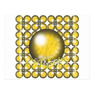 Yellow Orbs Postcard