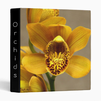 Yellow Orchid binder