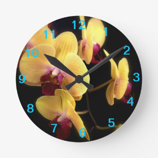 Yellow Orchid Flower Clock