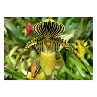 Yellow Orchid Flower mini pocket calandar 2012 Large Business Card