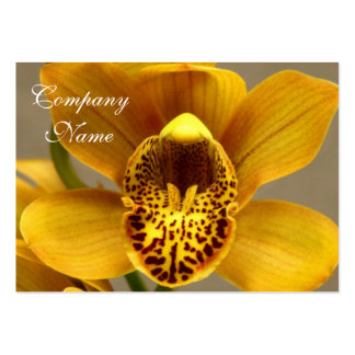 Yellow Orchid Flowers Business Card