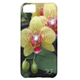 Yellow orchid flowers personal iphone 5 case