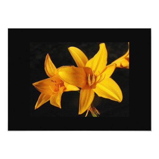 "Yellow Orchid Invitation 5"" X 7"" Invitation Card"