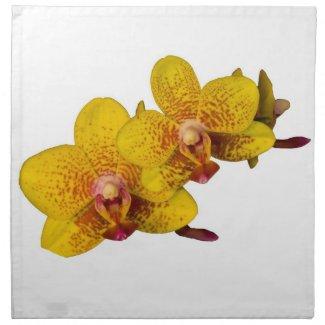 Yellow Orchid Napkin napkin