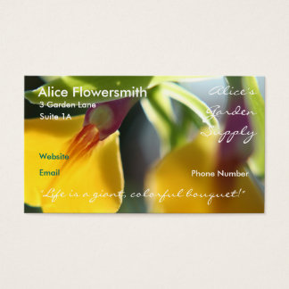 Yellow Orchids business cards