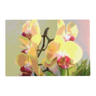 Yellow Orchids in the afternoon sun Laminated Placemat