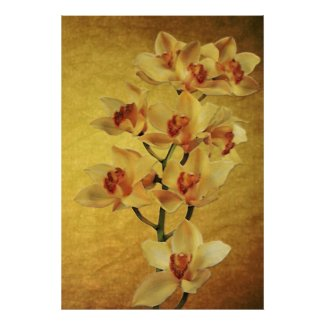Yellow Orchids print