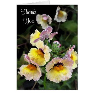 Yellow Orchids Thank You Card