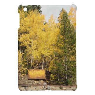 yellow ore cart iPad mini case