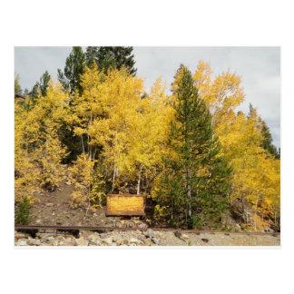 yellow ore cart postcard