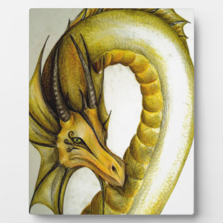 YELLOW ORIENTAL DRAGON PLAQUES