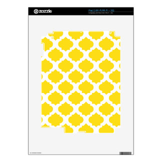 Yellow Ornate Pattern Skins For The iPad 2