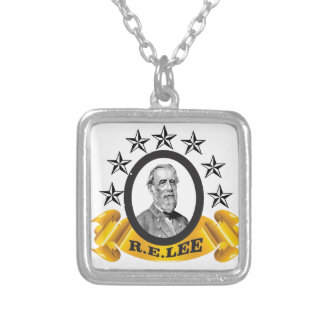 yellow oval lee silver plated necklace
