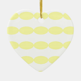 Yellow Ovals-patterns Ceramic Ornament