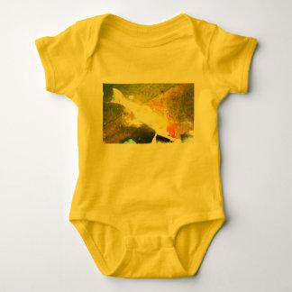 Yellow overalls carp baby bodysuit