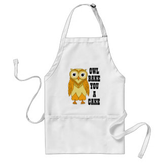 Yellow Owl Adult Apron