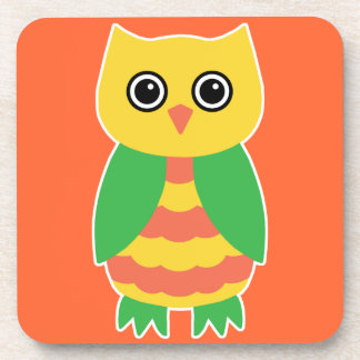 Yellow Owl Drink Coaster