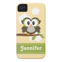 Yellow Owl iPhone 4 4s Case Mate Cover